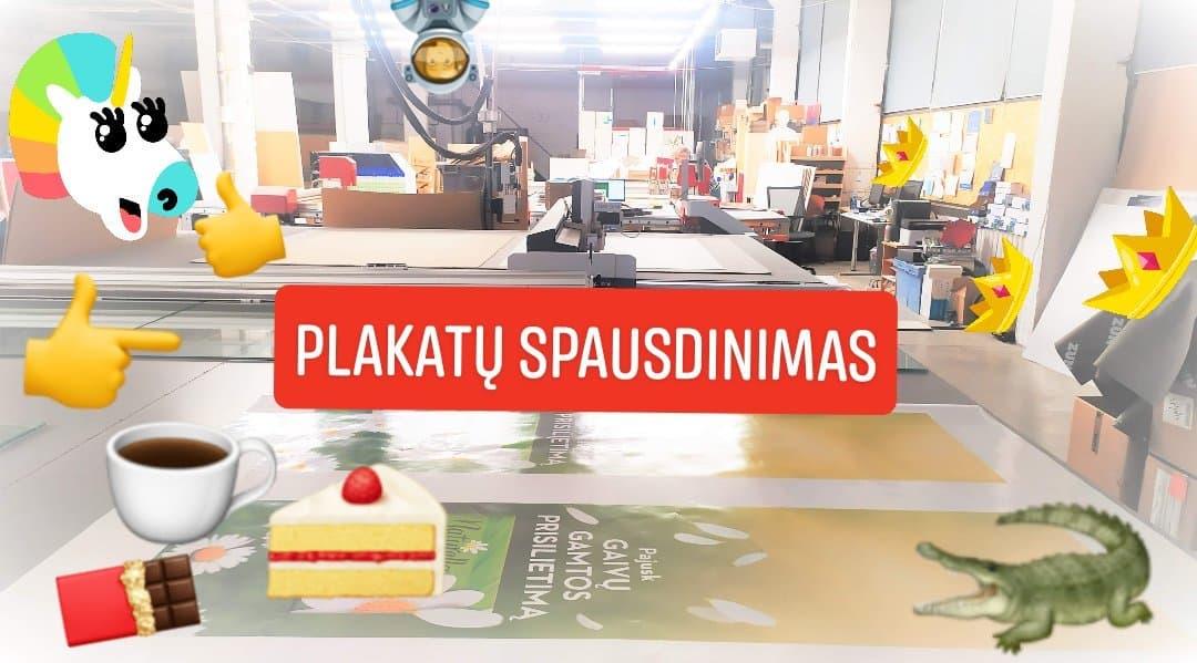 Plakatų gamyba planaku spausdinimas Vilnius Kaunas Klaipeda reklamai.lt Primum Print